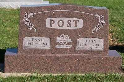 POST, JENNIE - Sioux County, Iowa | JENNIE POST