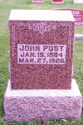 POST, JOHN - Sioux County, Iowa | JOHN POST
