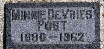 DEVRIES POST, MINNIE - Sioux County, Iowa | MINNIE DEVRIES POST