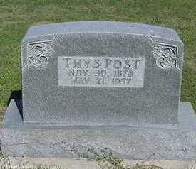 POST, THYS - Sioux County, Iowa | THYS POST