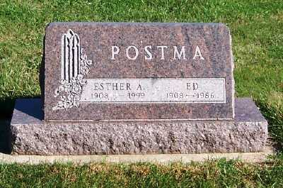 POSTMA, ESTHER A. - Sioux County, Iowa | ESTHER A. POSTMA