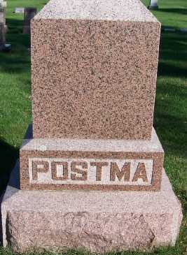 POSTMA, HEADSTONE - Sioux County, Iowa | HEADSTONE POSTMA