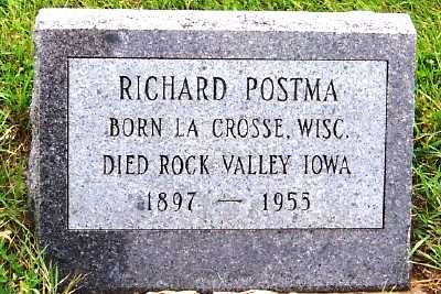 POSTMA, RICHARD - Sioux County, Iowa | RICHARD POSTMA