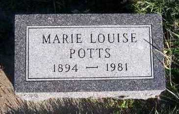POTTS, MARIE LOUISE - Sioux County, Iowa | MARIE LOUISE POTTS