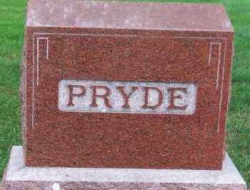 PRYDE, FAMILY HEADSTONE - Sioux County, Iowa | FAMILY HEADSTONE PRYDE