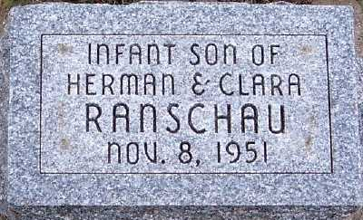 RANSCHAU, INFANT SON OF HERMAN & CLARA - Sioux County, Iowa | INFANT SON OF HERMAN & CLARA RANSCHAU