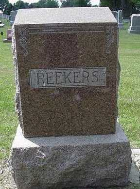 REEKERS, HEADSTONE - Sioux County, Iowa | HEADSTONE REEKERS