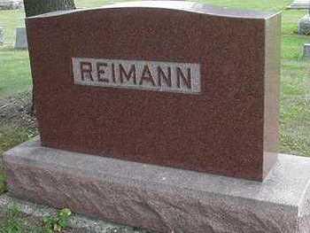 REIMANN, HEADSTONE - Sioux County, Iowa | HEADSTONE REIMANN