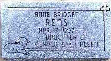 RENS, ANNE BRIDGET - Sioux County, Iowa | ANNE BRIDGET RENS