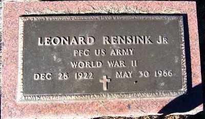 RENSINK, LEONARD JR. - Sioux County, Iowa | LEONARD JR. RENSINK