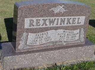 REXWINKEL, ALICE - Sioux County, Iowa | ALICE REXWINKEL