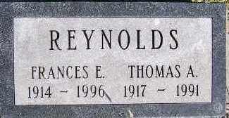 REYNOLDS, FRANCES E. - Sioux County, Iowa   FRANCES E. REYNOLDS