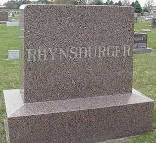 RHYNSBURGER, HEADSTONE - Sioux County, Iowa | HEADSTONE RHYNSBURGER