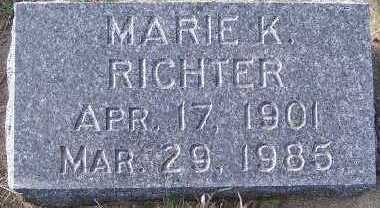RICHTER, MARIE K. - Sioux County, Iowa | MARIE K. RICHTER