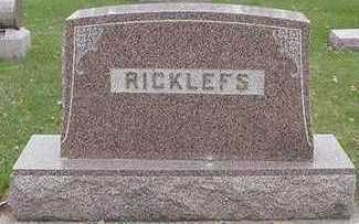 RICKLEFS, HEADSTONE - Sioux County, Iowa | HEADSTONE RICKLEFS
