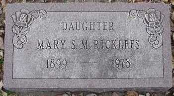 RICKLEFS, MARY S. M. - Sioux County, Iowa | MARY S. M. RICKLEFS