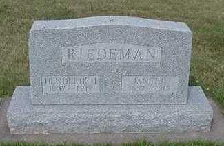 RIEDEMAN, HENDERIK H. - Sioux County, Iowa | HENDERIK H. RIEDEMAN