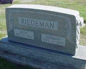 RIEDEMAN, HERMAN - Sioux County, Iowa | HERMAN RIEDEMAN