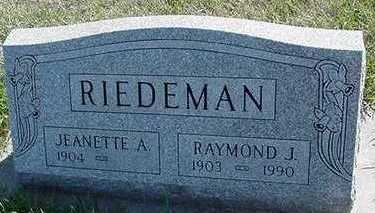 RIEDEMAN, JEANETTE - Sioux County, Iowa | JEANETTE RIEDEMAN