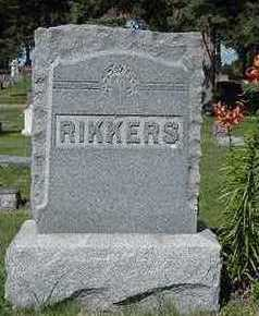 RIKKERS, HEADSTONE - Sioux County, Iowa | HEADSTONE RIKKERS