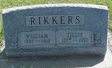 RIKKERS, WILLIAM - Sioux County, Iowa | WILLIAM RIKKERS