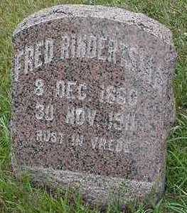 RINDERTSMA, FRED - Sioux County, Iowa | FRED RINDERTSMA