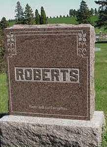 ROBERTS, HEADSTONE - Sioux County, Iowa | HEADSTONE ROBERTS