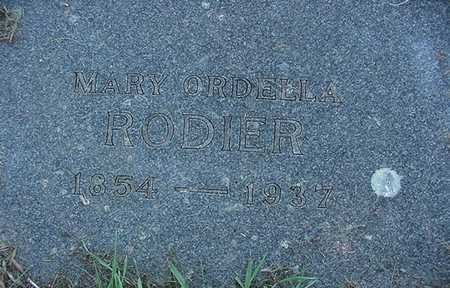 RODIER, MARY ORDELLA - Sioux County, Iowa | MARY ORDELLA RODIER