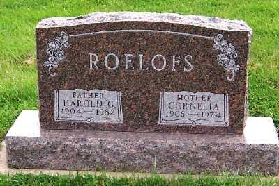 ROELOFS, HAROLD G. - Sioux County, Iowa | HAROLD G. ROELOFS