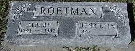 ROETMAN, ALBERT - Sioux County, Iowa | ALBERT ROETMAN