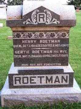 ROETMAN, GERTIE (MRS. HENRY) - Sioux County, Iowa | GERTIE (MRS. HENRY) ROETMAN