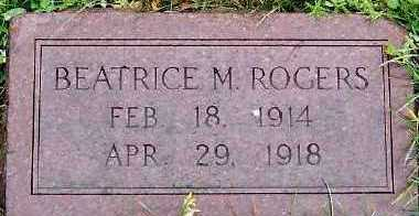 ROGERS, BEATRICE M. - Sioux County, Iowa   BEATRICE M. ROGERS