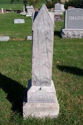ROGGMANN, ANNA DOROTHEA JOHANNA - Sioux County, Iowa | ANNA DOROTHEA JOHANNA ROGGMANN