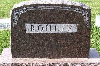 ROHLFS, FAMILY HEADSTONE - Sioux County, Iowa | FAMILY HEADSTONE ROHLFS