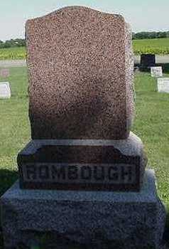ROMBOUGH, HEADSTONE - Sioux County, Iowa | HEADSTONE ROMBOUGH
