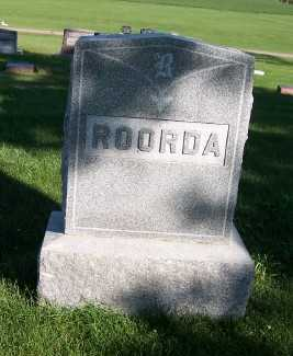 ROORDA, HEADSTONE - Sioux County, Iowa | HEADSTONE ROORDA