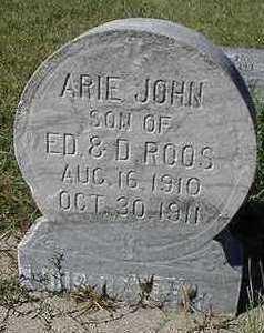 ROOS, ARIE JOHN - Sioux County, Iowa | ARIE JOHN ROOS