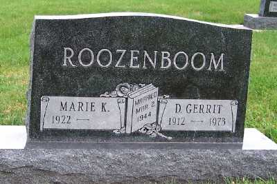 ROOZENBOOM, D. GERRIT - Sioux County, Iowa | D. GERRIT ROOZENBOOM