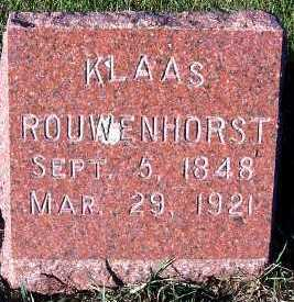 ROUWENHORST, KLAAS - Sioux County, Iowa | KLAAS ROUWENHORST