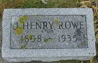 ROWE,  J. HENRY - Sioux County, Iowa |  J. HENRY ROWE
