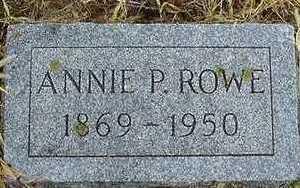 ROWE, ANNIE P. - Sioux County, Iowa | ANNIE P. ROWE