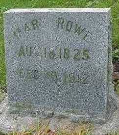 ROWE, MARY - Sioux County, Iowa | MARY ROWE