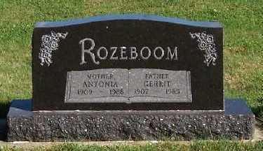 ROZEBOOM, GERRIT - Sioux County, Iowa | GERRIT ROZEBOOM