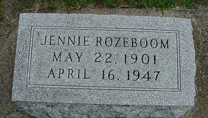 ROZEBOOM, JENNIE - Sioux County, Iowa | JENNIE ROZEBOOM