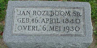 ROZEBOOM, JAN SR. - Sioux County, Iowa | JAN SR. ROZEBOOM