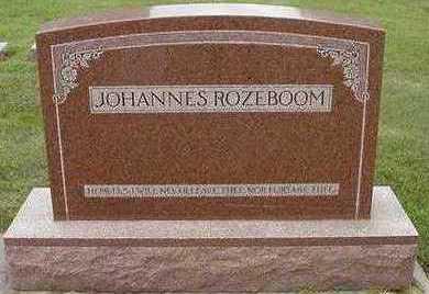 ROZEBOOM, JOHANNES HEADSTONE - Sioux County, Iowa | JOHANNES HEADSTONE ROZEBOOM