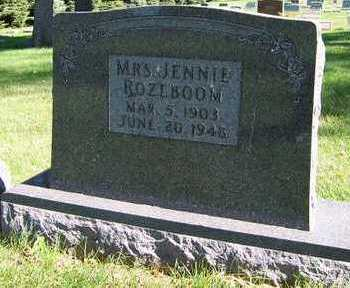 ROZEBOOM, JENNIE, MRS. - Sioux County, Iowa | JENNIE, MRS. ROZEBOOM