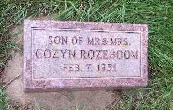 ROZEBOOM, SON OF M/M COZYN - Sioux County, Iowa | SON OF M/M COZYN ROZEBOOM