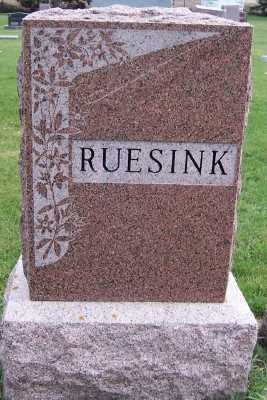 RUESINK, HEADSTONE - Sioux County, Iowa | HEADSTONE RUESINK