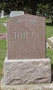 RUIJS, HEADSTONE - Sioux County, Iowa | HEADSTONE RUIJS